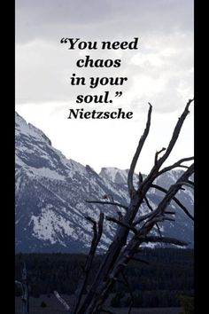You need chaos in your soul!