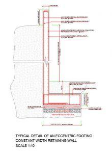 Eccentric Footing Constant Width Retaining Wall Design In 2020 Retaining Wall Design Wall Design Concrete Retaining Walls