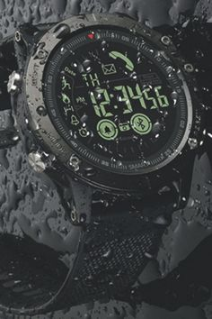 Tactical wristwatch - iOS/ANDROID Compatible  MADE OUT OF STAINLESS STEEL: THIS WATCH WILL SURVIVE ANYTHING! Topics included: Wristwatches, watches, tactical watch, smartwatch, ios watch, android watch #tactical #backpacking #climbing #mountainbiking #trailrunning #hiking #camping #outdoor #hunting #survival #watch #watches #smartwatch #tacticalwatch