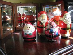christmas // decorations: matrioshka santas, courtesy Lynette Lawson, Centreville, IL