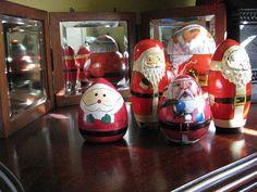matrioshka santas, courtesy Lynette Lawson, Centreville, IL