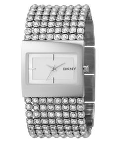 DKNY Watch, Women's Crystal-Accented Stainless Steel Bracelet NY4661 - All Watches - Jewelry & Watches - Macy's