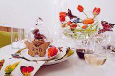 Modern Butterfly Tablescape