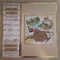 Handmade 7 x 7 Greeting Card  Brother by BavsCrafts on Etsy