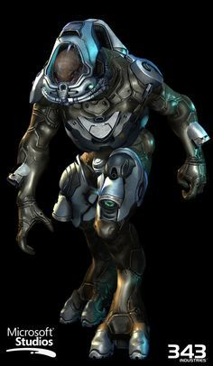 ArtStation - Halo 4 - Space Elite / Elite Techsuit, Kyle Hefley