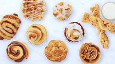 Holiday brunch just got sane again! Whip up these easy, clever and somewhat-homemade treats with as few as zero—ZERO—extra ingredients. For the full recipe:h. Pillsbury Cinnamon Rolls, Cinnamon Roll Dough, Cinnamon Twists, Cinnamon Roll Waffles, Pillsbury Dough, Brunch Recipes, Breakfast Recipes, Dessert Recipes, Desserts