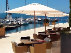 #portomontenegrotivat is a stunning waterfront destination for dining under #TUUCI parasols, lounging dockside as the yachts roll