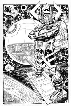 Galactus commission by John Byrne from 2009.
