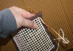 Do you have scrap fabrics? Well locker hooking is the perfect way to use up lots of left over fabrics. Even fabrics that you wonder w...