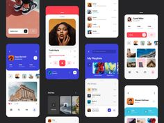 Movie app design , film app design , conception d'application d. - Best Picture For App Design For Your Taste You are looking for something, and it is Web Design, Design Food, App Ui Design, User Interface Design, App Design Inspiration, Ui Kit, Interface Iphone, Wireframe Mobile, Film App