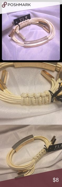 Cream gold bracelet 💫 ⭐️New with tag⭐️ Adjustable rope bracelet! Classy goes with every outfit! Jewelry Bracelets