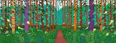 david hockney paintings landscape - Google Search
