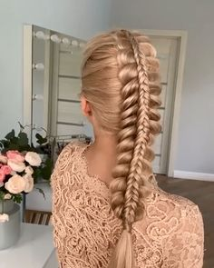 Easy Hairstyles For Long Hair, Braids For Long Hair, Bride Hairstyles, Pretty Hairstyles, Updo Hairstyle, Princess Hairstyles, Undercut Hairstyles, Hair Up Styles, Medium Hair Styles
