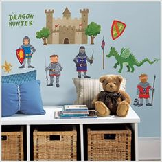 Dragon/Castle/Knight wall decals
