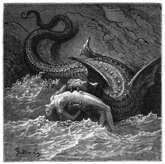 Angelica and the Sea Monster, by Gustav Dore', from Orlando Furioso