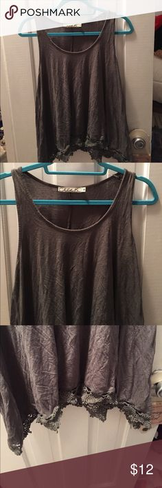 Nordstrom tank top Green lace trim tank top from Nordstrom. Worn a couple of times Nordstrom Tops Tank Tops
