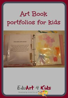 What do you do with all of the kids art projects? You make them an art book portfolio to keep all their artwork in one place Acrylic Painting For Kids, Finger Painting For Kids, Kids Collage, Simple Collage, Summer Art Projects, Toddler Art Projects, Art Books For Kids, Art For Kids, Kindergarten Art Projects