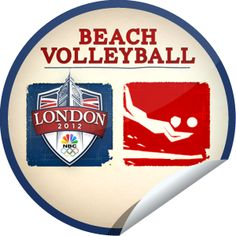 2012 Summer Olympics Beach Volleyball...Feel the sand beneath your toes and watch Beach Volleyball! Check-in with GetGlue.com for this Olympics 2012 sticker!