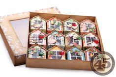 отпечатки (): Новогодние украшение. 12 домиков (12 Days of Christmas. Twelve houses in a box)