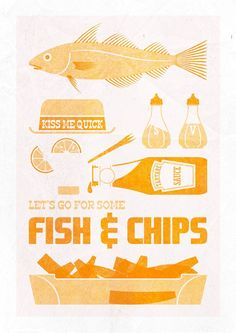 Let's Go For Some Fish and Chips. in Prints