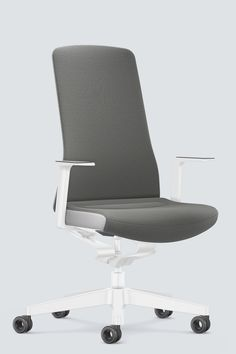 PURE INTERIOR Edition 09 #Grau. Mehr Design für dein #HomeOffice. Mit einer vielfältigen und hochwertigen Stoffauswahl und ihrem ergonomischen Design vereint die PURE INTERIOR Edition bequemes und ergonomisches Sitzen. Das Design und die Farbgebung des PURE machen ihn zu einem optischen Leichtgewicht. Farblich abgestimmt bringt er sich in das Home Office ein und kann sich gleichzeitig zurücknehmen. #schreibtischstuhl #produktivität #interiordesign #Stoff #ergonomie #interstuhl Home Office, Pure Home, Interiordesign, Ikea Hack, Diy Furniture, Designer, Pure Products, Chair, Home Decor