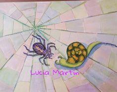 """Ilustración de Lucía Martín para el cuento """" Caracol Aventurero """" de J.Nieto"""