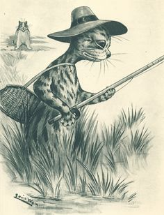 Louis Wain (5 August 1860 – 4 July 1939) What a work of art.