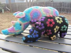 Made to Order Crochet Custom African Flower Rhino by corlista