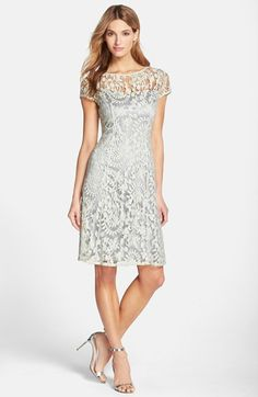 Adrianna Papell Lace Fit & Flare Dress available at #Nordstrom