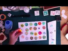 TUTO - Comment créer ses propres pastilles (Embellissement scrap) - YouTube