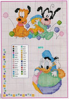 Punto croce disney naturale baby paperino pluto pippo schema with punto cro Disney Cross Stitch Patterns, Cross Stitch For Kids, Cross Stitch Baby, Cross Stitch Charts, Cross Stitch Designs, Cross Stitching, Cross Stitch Embroidery, Embroidery Patterns, Disney Stitch