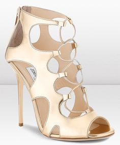 Jimmy Choo Diffuse Sandals in Gold                                                                                                                                                                                 More