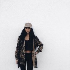 @benitathediva  Camo print and all black. Cute comfy outfits. Baddie outfits. college party outfit. tumblr outfits.