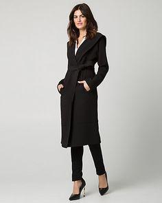 Double+Weave+Hooded+Wrap+Coat