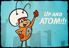 Hanna-Barbera Atom Ant in halftone Atom Ant, Hanna Barbera, Comic Styles, Rowan, 2d, Snoopy, Sketches, Hero, Illustrations