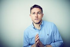 charlie-hunnam-button-down | 15 Sexy Photos Of Charlie Hunnam That Prove He's A God Among Mortals