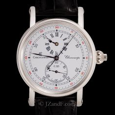 Chronoswiss Chronoscope Automatic Regulator Monopusher Chronograph. 950 Platinum  (Model CH 1520)
