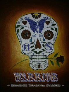 HS Sugar Skull Warrior! Art by Mary Kokoska https://www.facebook.com/marykokoska