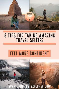 8 Tips For Taking Travel Selfies With Confidence - Dani The Explorer - Photography, Landscape photography, Photography tips Travel Photography Tumblr, Photography Beach, Photography Tips, Photography Backdrops, Photography Classes, Photography Magazine, Photography Hashtags, Beginner Photography, Photography Outfits