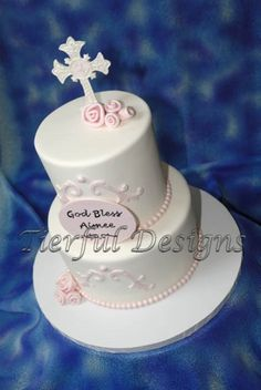 First Communion cake this season by Tierful Designs, via Flickr - very elegant!