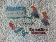 Cute mermaid peter pan stickers set of 6 on MissMarcieOnline