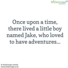 Personalised adventure wall sticker text (Large size) by Stickerscape - Available in a choice of colour options - Removable - Wall decal - Wall graphic - Wall art (Beach house blue)