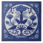 Antique Minton Hollins Blue Aesthetic Tile Repro