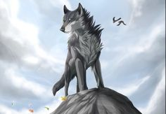 This is my pet wolf, Shirukin. Wild Creatures, Fantasy Creatures, Animal Drawings, Cool Drawings, Spirit Animals Series, Art Wolfe, Anime Wolf Drawing, Fantasy Wolf, Wolf Love