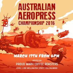 """On the of March at Proud Mary Coffee Roasters, the hip and fun younger sister of other national coffee comps, the National Aeropress Competition,…"" Coffee Supplies, Sisters, Mary, Barista, Instagram Posts, Competition, Fun, Australia, Artwork"