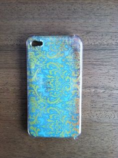 Homemade iPhone case using scrapbook paper - attention PAIGE!!!!!