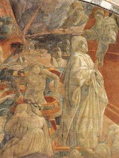 Paolo Uccello - Storie bibliche: Diluvio universale e Recessione delle acque, dettaglio - affresco - 1432-1436 - Chiostro Verde, Santa Maria Novella, Firenze