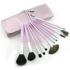 27.57$  Buy here - http://ai7du.worlditems.win/all/product.php?id=32628943227 - 12 Pieces Comestic with Lavender Case Professional Makeup Accessories Brushes Tools Foundation Brush Sets & Kits High Quality