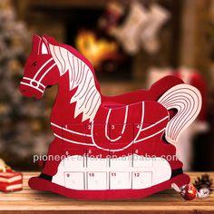 Christmas wooden rocking house advent calendar
