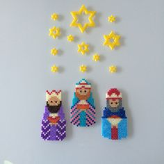 Three Wise Men hama beads by Lene Holm Gamborg - Pattern: https://www.pinterest.com/pin/374291419011785910/